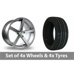 4 X 19 Ac Wheels Star Five Grey Alloy Wheel Rims And Tyres - 225/35/19