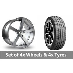 4 X 19 Ac Wheels Star Five Grey Alloy Wheel Rims And Tyres - 235/45/19