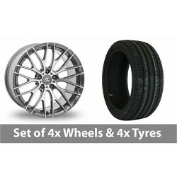 4 X 20 Ac Wheels Syclone Hyper Silver Alloy Wheel Rims And Tyres - 255/30/20