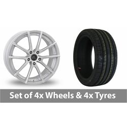 4 X 19 Ac Wheels Cruze Silver Alloy Wheel Rims And Tyres - 255/35/19