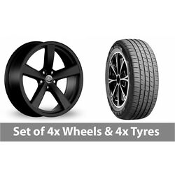 4 X 19 Diewe Trina Black Alloy Wheel Rims And Tyres - 255/45/19
