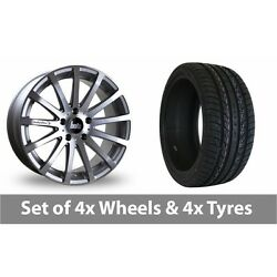 4 X 20 Bola Xtr Silver Polished Alloy Wheel Rims And Tyres - 295/40/20