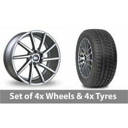 4 X 19 Bola Zzr Silver Polished Alloy Wheel Rims And Tyres - 265/30/19