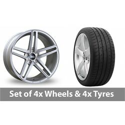 4 X 19 Bola B3 Silver Alloy Wheel Rims And Tyres - 285/30/19