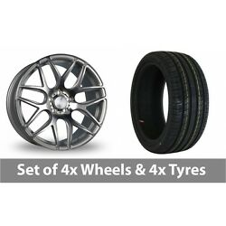 4 X 18 Bola B8r Silver Polished Face Alloy Wheel Rims And Tyres - 255/40/18