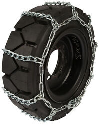 14x17.5 Skid Steer Tire Chains 8mm Link Loader Bobcat Snow Ice Traction