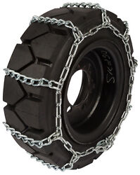 28x12x15 Forklift Tire Chains 8mm Link Hyster Lift Truck Snow Ice Traction