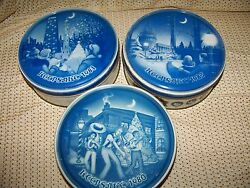3 Keepsake Fruit Cake Cans Tins Cities And03980-82 Wash Dc Orleans Chicago Vintage