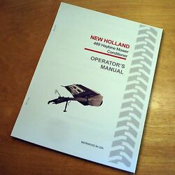 New Holland 489 Haybine Mower Conditioner Operator's Owners Book Guide Manual Nh
