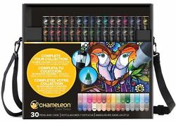 CHAMELEON COLOR TONES MARKERS - 30 PENS AND CASE - VARIOUS COLOURS