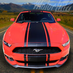 2015 2016 2017 Ford Mustang Convertible Center Rally Stripes Decals Racing