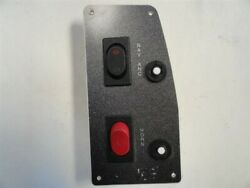 Gray Switch Panel 6-1/2 X 3-1/4 With Horn Button And Breakers Marine Boat