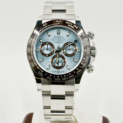 Rolex Platinum Daytona 116506 Watch Ice Blue Index Dial Ceramic Bezel 2016 Model
