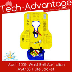 Adults Offshore 100n Waist Compact Waist Belt Pfd Inflatable Boat Life Jacket