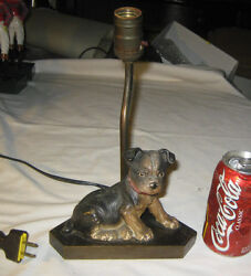 ANTIQUE HUBLEY USA CAST IRON BOSTON TERRIER DOG STATUE ART LAMP 6 LB. DOORSTOP