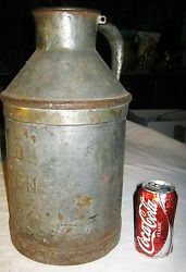 Antique Primitive New Haven Ct Usa Country Dairy Milk Cow Farm Cream Metal Can