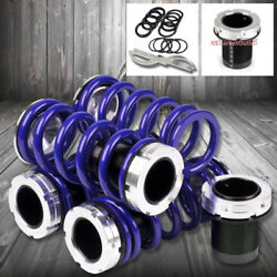 Front/rear Scaled Black Coilover Blue Lowering Spring For 93-98 Jetta A3 Typ-1h