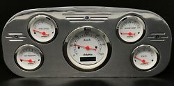 1935 1936 Ford Truck 5 Gauge Dash Panel Insert Polished Programmable Metric