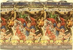 Heroclix Sealed Brick Justice League Trinity War 5 Figure Booster Pack X 10