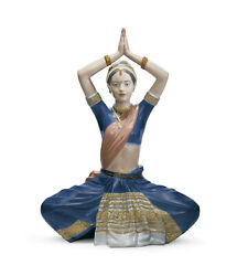 Lladro Indian Dance 8128 Brand New In Box Woman Colorful Large Save F/sh