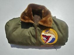 Ww2 Usaaf B-15 Flying Jacket 78th Fighter Squadron Approx Size 44 Named To