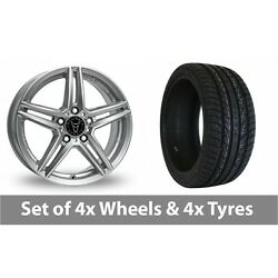 4 X 20 Wolfrace M10 Silver Alloy Wheel Rims And Tyres - 255/45/20