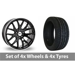 4 X 22 Zito Zl935 Black Polished Alloy Wheel Rims And Tyres - 265/30/22
