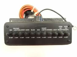 Breaker Panel W/ 11 Rubber Booted Breakers And Housing 10 X 4-7/8 Marine Boat