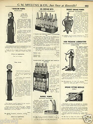 1931 Paper Ad Milwaukee Visible Gas Pumps Glass Globe Marquette Oil Bottles Qt