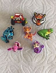 Jungle Jibbitz Shoe Charms Tiger Jeep W/snake Leopard Blue Dart Frog Jibbitz