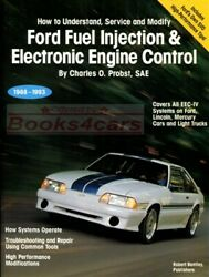 SHOP MANUAL SERVICE REPAIR BOOK FORD FUEL INJECTION PROBST MUSTANG