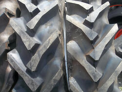 2 11.2x28 Ford John Deere Tractor Tires W/tubes And 2 550x16 3 Rib W/tubes