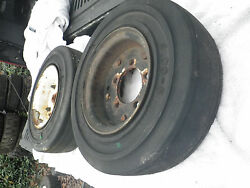 2 Fork Lift Tires With Rims 5 Lug 4.00 X 8.00 3.75