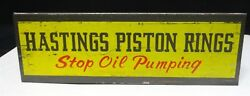 Hasting Piston Rings - Auto Catalog Rack - Display - Stop Oil Pumping - Stand