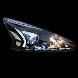 For Altima Teana 2013- 2015 Auto LED Strip Front Headlights Projector Lens Light