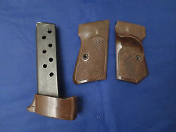 Walther Pp Target Set Thumb Rest Grips And Large Grip 8 Round Magazine