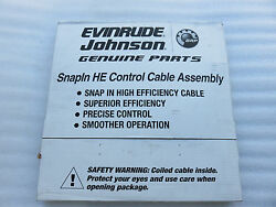 New OMC Johnson Evinrude 764128 Remote Control Snap-In Cable HE 28' Outboard