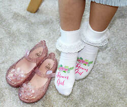 Flower Girl Socks Wedding Bridal Party Accessories Gift Set $9.29