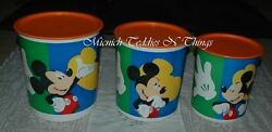 Tupperware Mickey Mouse Three Piece Canister Set Rare