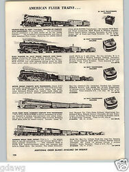 1957 Paper Ad 5 Pg American Flyer Toy Electric Train Sunshine Special Santa Fe