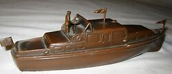 Antique Jennings Brothers Usa Flag Yacht Sea Art Statue Sculpture Paperweight