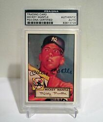 Mickey Mantle Yankees Autographed 1952 Topps PSADNA #311 1988 BBC Baseball Card