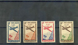 French Reunion Sc C2-5varyt A24a-7avf Nh 1938 Air Set Dble Oand039pt Rare 5250