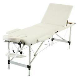 84 Foldable Tattoo Salon Facial Bed Health Beauty Massage Table Chair White