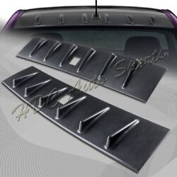 For Mitsubishi Lancer Evo X Carbon Style Vortex Shark Fin Rear Roof Spoiler Wing