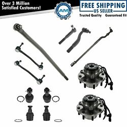 12 Piece Steering And Suspension Kit Wheel Hub Assemblies Tie Rods Ball Joints New