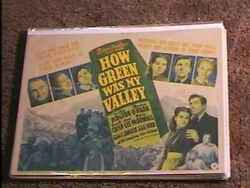 How Green Was My Valley 1941 Lobby Card 1 Classic