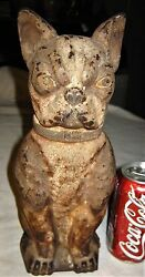 ANTIQUE GREENBLATT STUDIOS ARCADE BOSTON TERRIER DOG CAST IRON STATUE DOORSTOP