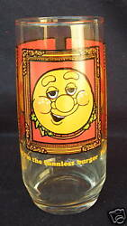 Vintage 1979 Burger King Funniest Burger Thing 6 Promo Drinking Glass Cup