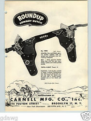 1951 Paper Ad 4 Pg Carnell Roundup Cowboy Toy Gun And Holster Sets Leather Hubley